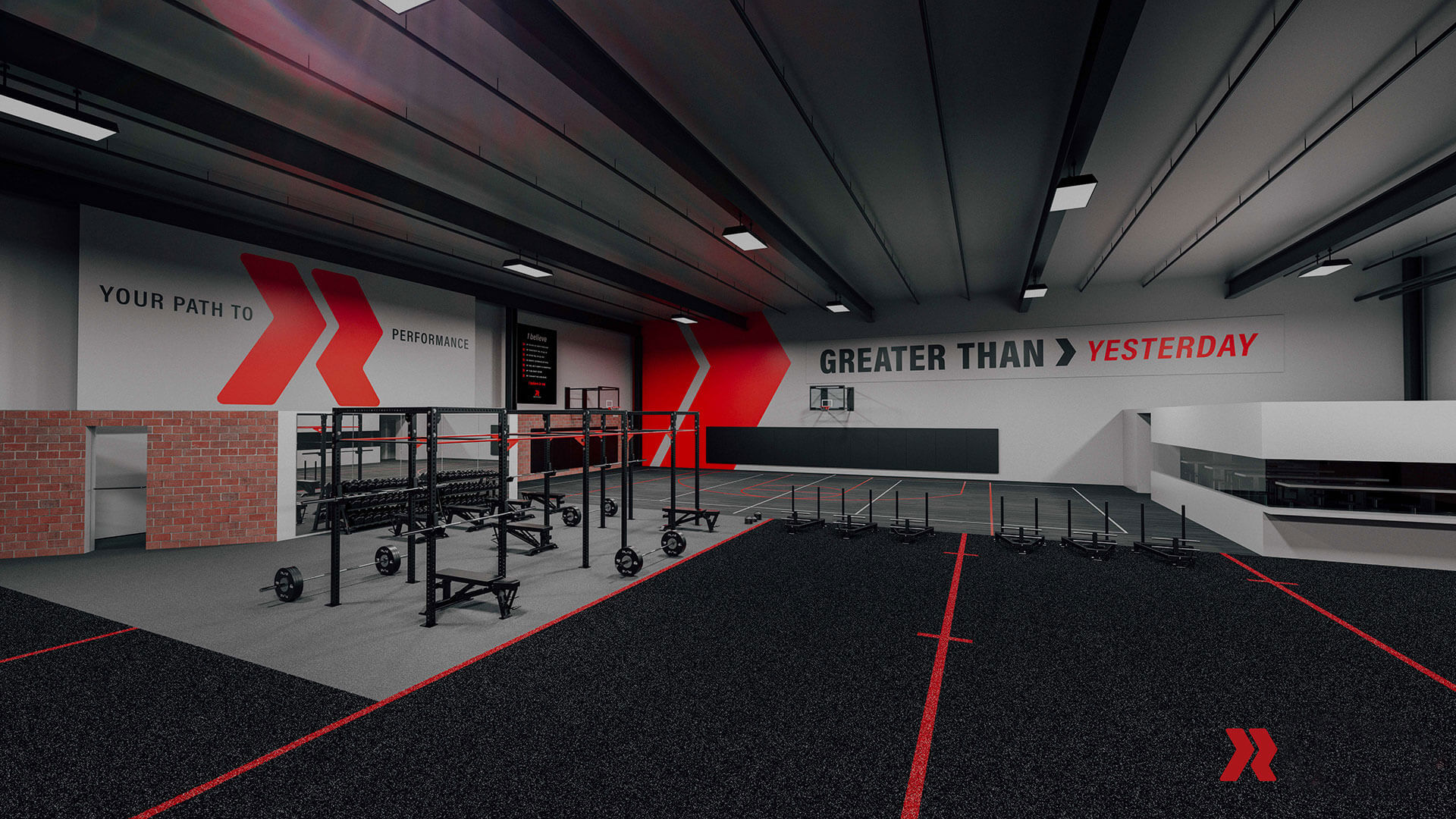 Redline weight training facilities.