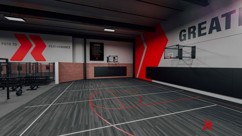 Another view of Redline basketball court.