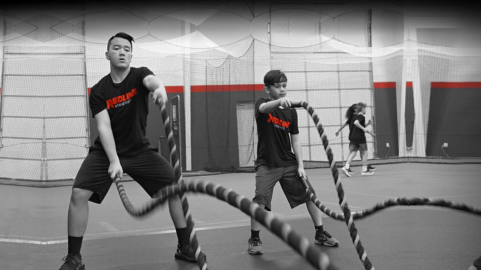 boys train on ropes at Redline Athletics